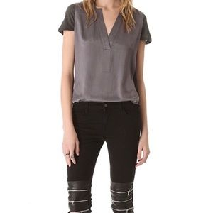 J Brand Ready-to-Wear Halle Top In Graphite